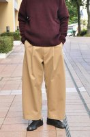 【SOLD OUT】 STUDIO NICHOLSON  Peached Drill Volume Pants (Tan)