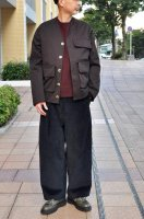 <img class='new_mark_img1' src='//img.shop-pro.jp/img/new/icons8.gif' style='border:none;display:inline;margin:0px;padding:0px;width:auto;' />STUDIO NICHOLSON  Peached Drill Field Jacket (Mulberry)