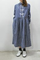 <img class='new_mark_img1' src='//img.shop-pro.jp/img/new/icons8.gif' style='border:none;display:inline;margin:0px;padding:0px;width:auto;' />Colenimo Vintage Gingham Print Dress