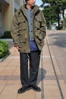 <img class='new_mark_img1' src='https://img.shop-pro.jp/img/new/icons20.gif' style='border:none;display:inline;margin:0px;padding:0px;width:auto;' />FRANK LEDER  Khaki Rough Wool 2Way Hoody Coat
