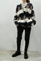 【SOLD OUT】HACHE  Check Knit Jacket