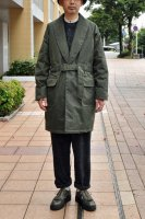 【SOLD OUT】UNITUS  Belted Shawl Coat /Wax Cotton (Olive)