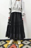 【SOLD OUT】Bilitis dix-sept ans Cotton Lace Long Skirt (Black)
