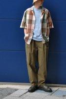 【SOLD OUT】STUDIO NICHOLSON  Short Sleeve Madras Check Shirt