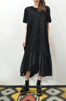 <img class='new_mark_img1' src='//img.shop-pro.jp/img/new/icons8.gif' style='border:none;display:inline;margin:0px;padding:0px;width:auto;' />bassike  Cotton Silk T-Shirt Dress (Black)