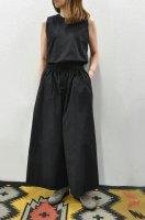 【SOLD OUT】STUDIO NICHOLSON  Waist Drawstring Sleeveless Combinaison (Black)