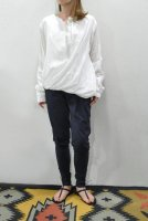 【SOLD OUT】HACHE  Layered Pullover Shirt (White)