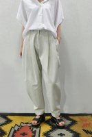 【SOLD OUT】STUDIO NICHOLSON  Pleat Pant with Fold&Button Cuff (Bone)