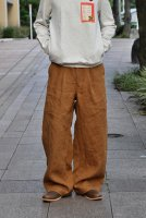 <img class='new_mark_img1' src='https://img.shop-pro.jp/img/new/icons8.gif' style='border:none;display:inline;margin:0px;padding:0px;width:auto;' />NICENESS Linen Canvas Wide Pants (D.Brown)