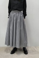 <img class='new_mark_img1' src='https://img.shop-pro.jp/img/new/icons20.gif' style='border:none;display:inline;margin:0px;padding:0px;width:auto;' />CABINET  Gingham Check Gather Long Skirt