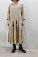 <img class='new_mark_img1' src='https://img.shop-pro.jp/img/new/icons8.gif' style='border:none;display:inline;margin:0px;padding:0px;width:auto;' />FRANK LEDER  Beige Linen Dress