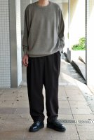 【SOLD OUT】crepuscule  Wool Waffle Crewneck Knit(Brown)