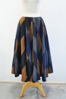 【SOLD OUT】m's Braque  Multi Color Diamond Pattern Flared Skirt