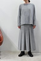 【SOLD OUT】TENNE HANDCRAFTED MODERN  Back Knit Pullover (L.Grey)
