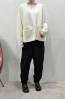 【SOLD OUT】TENNE HANDCRAFTED MODERN  Weave and Knit Cardigan (White)