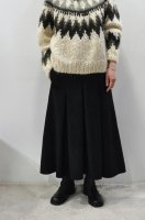<img class='new_mark_img1' src='https://img.shop-pro.jp/img/new/icons8.gif' style='border:none;display:inline;margin:0px;padding:0px;width:auto;' />TENNE HANDCRAFTED MODERN  Weave and Knit Tuck Long Skirt (Black)