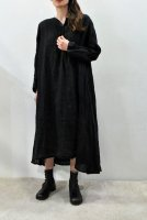 【SOLD OUT】KristenseN DU NORD Linen Snap Button Dress(Black)