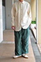 <img class='new_mark_img1' src='https://img.shop-pro.jp/img/new/icons8.gif' style='border:none;display:inline;margin:0px;padding:0px;width:auto;' />FRANK LEDER  Vintage Blue Stripe Bedsheet Old Style Shirt