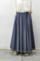 <img class='new_mark_img1' src='https://img.shop-pro.jp/img/new/icons20.gif' style='border:none;display:inline;margin:0px;padding:0px;width:auto;' />NICENESS Wild Silk Denim Gathered Skirt