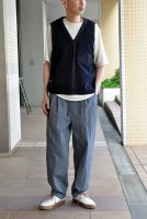 <img class='new_mark_img1' src='https://img.shop-pro.jp/img/new/icons8.gif' style='border:none;display:inline;margin:0px;padding:0px;width:auto;' />FRANK LEDER  Indigo Dyed +Washed Cotton Vest