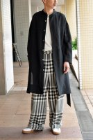 【SOLD OUT】m's braque  Over Sized Stand Coller Shirts Coat (Black)