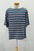 <img class='new_mark_img1' src='https://img.shop-pro.jp/img/new/icons8.gif' style='border:none;display:inline;margin:0px;padding:0px;width:auto;' />m's braque  Boat Neck Short Sleeve Shirt (Green Border)