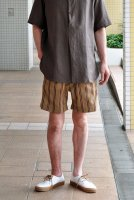 【SOLD OUT】m's braque  Gurkha Shorts (Beige Stripe)