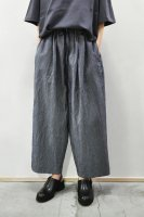 <img class='new_mark_img1' src='https://img.shop-pro.jp/img/new/icons8.gif' style='border:none;display:inline;margin:0px;padding:0px;width:auto;' />FRANK LEDER  Straiped Cotton Drawstring Wide Pant