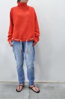 【SOLD OUT】bassike  Drawstring Hem Knit (Red)