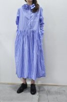 <img class='new_mark_img1' src='https://img.shop-pro.jp/img/new/icons8.gif' style='border:none;display:inline;margin:0px;padding:0px;width:auto;' />Colenimo  Detachable Collar Shirt Dress (Blue Stripe)
