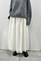 <img class='new_mark_img1' src='https://img.shop-pro.jp/img/new/icons8.gif' style='border:none;display:inline;margin:0px;padding:0px;width:auto;' />KristenseN DU NORD  Washed Wool Gather Skirt (Natural)