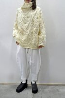 【SOLD OUT】unfil  french Merino Cable Knit Oversized Sweater (Natural)