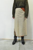 <img class='new_mark_img1' src='https://img.shop-pro.jp/img/new/icons8.gif' style='border:none;display:inline;margin:0px;padding:0px;width:auto;' />HIROMI TSUYOSHI  Chino Wrap Skirt with Vintage Fabric