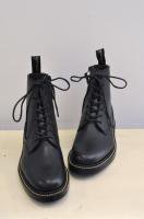 【SOLD OUT】foot the coacher  ZIP UP PLAIN BOOTS (black)
