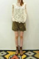 【SOLD OUT】Bilitis dix-sept ans   Leaver Lace Blouse (Beige)