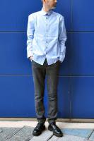 【SOLD OUT】S.E.H KELLY  Lancashire Oxford Cotton Kelly Collar Shirt (Blue)