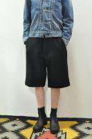 <img class='new_mark_img1' src='//img.shop-pro.jp/img/new/icons20.gif' style='border:none;display:inline;margin:0px;padding:0px;width:auto;' />MASTER & CO.   Wool Melton short pants /with belt (Navy)