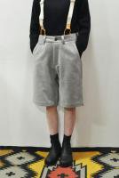 <img class='new_mark_img1' src='https://img.shop-pro.jp/img/new/icons20.gif' style='border:none;display:inline;margin:0px;padding:0px;width:auto;' />MASTER & CO.   Wool Melton short pants /with belt (Grey)
