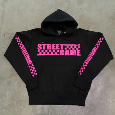 STREETGAMEHD/CHECKER(裏起毛)(ブラック/ピンク)