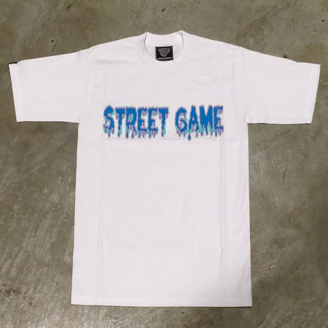 STREET GAME T-Shirts/ICE(Heavy Weight)(ホワイト/スカイブルー)