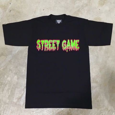 STREET GAME T-Shirts/ICE(Heavy Weight)(ブラック/グリーン)
