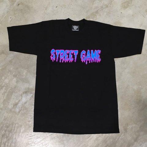 STREET GAME T-Shirts/ICE(Heavy Weight)(ブラック/パープル)