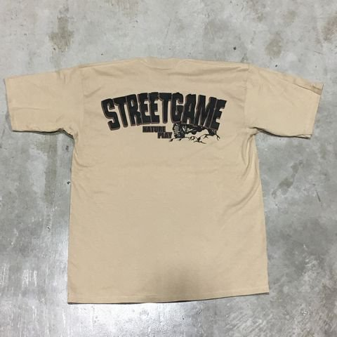 STREETGAME Tシャツ/4×4(Heavy Weight)(カーキ/ブラウン)