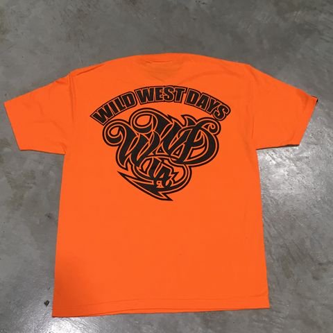 WILDWESTDAYS T-Shirts/BACK01 (Heavy Weight)(ネオンオレンジ/ブラック)