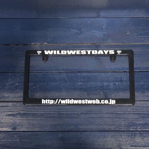 WILDWESTDAYS ナンバーフレーム