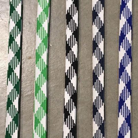 【郵便発送可】靴ひも シューレース くつひも 二色コンビ【太】(グリーン・ライトグリーン・ブラック・ネイビー・ブルー)