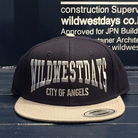 WWD SNAP BACK/CITY OF ANGELES(ネイビー/グレー)