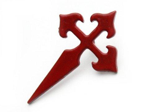 剣の形のクロス ピンバッジ(スペイン)