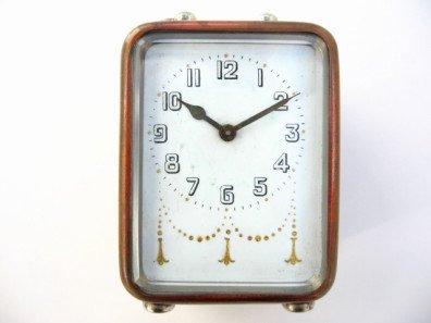 アンティーク 手巻き式卓上置時計(アラーム付)
