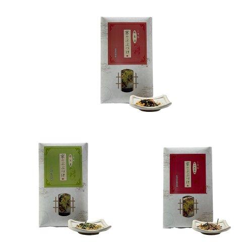 *送料無料*<br>京のぶぶ漬けシリーズ<br>海苔茶漬け・紀州南高梅茶漬・国産野沢菜茶漬・国産鮭茶漬からお好きなぶぶ漬けを3種選べるお得セット<br>